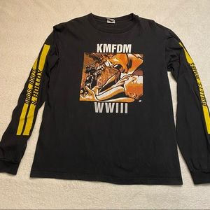KMFDM WWIII black screen print long sleeve size medium
